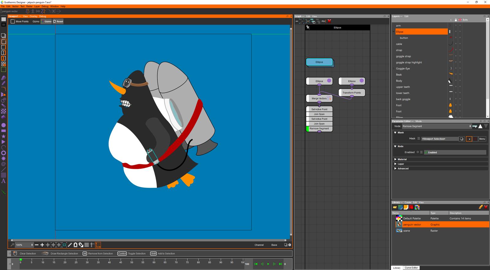 Exothermic Graphic Designer Screenshot